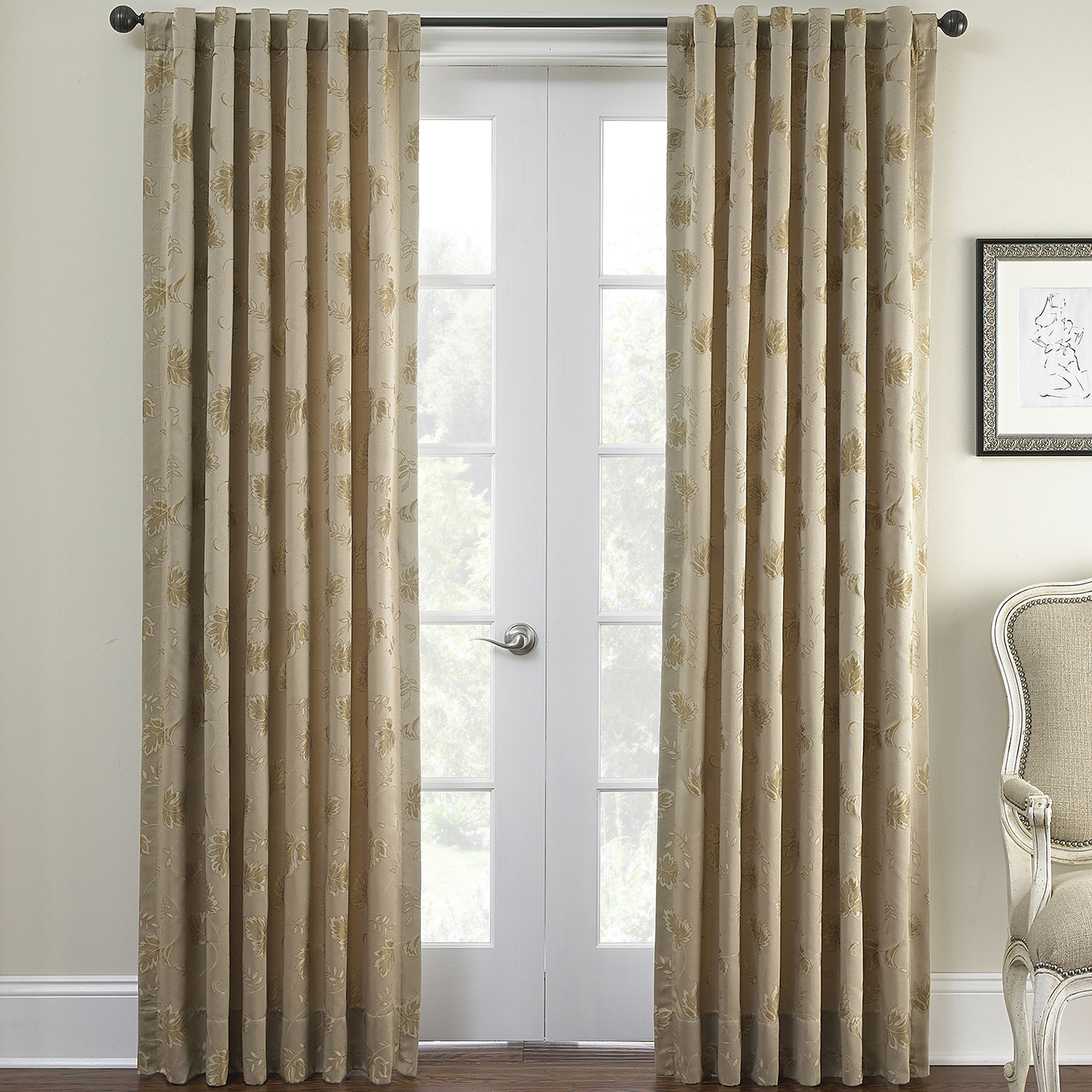 polyester x solid woven drapes ati brown pleat home sateen curtain pinch tab pin panel pair inches blackout back espresso